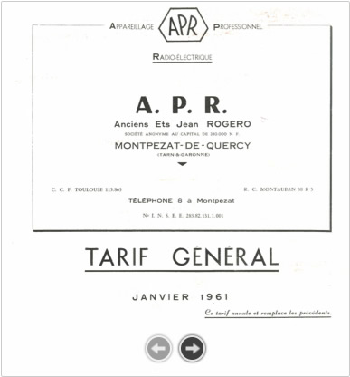 Catalogue - 1961