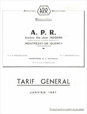 Catalogue 1961