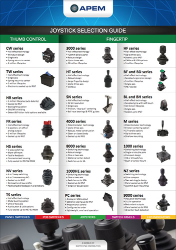 Joysticks Selection guide