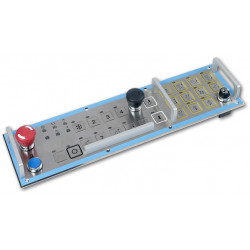 Metal keypads/keyboards and control systems