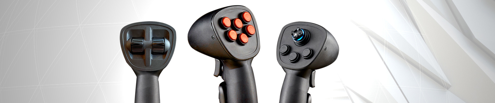 A multi-axis Hand Grip joystick specifically engineered for demanding vehicle applications!