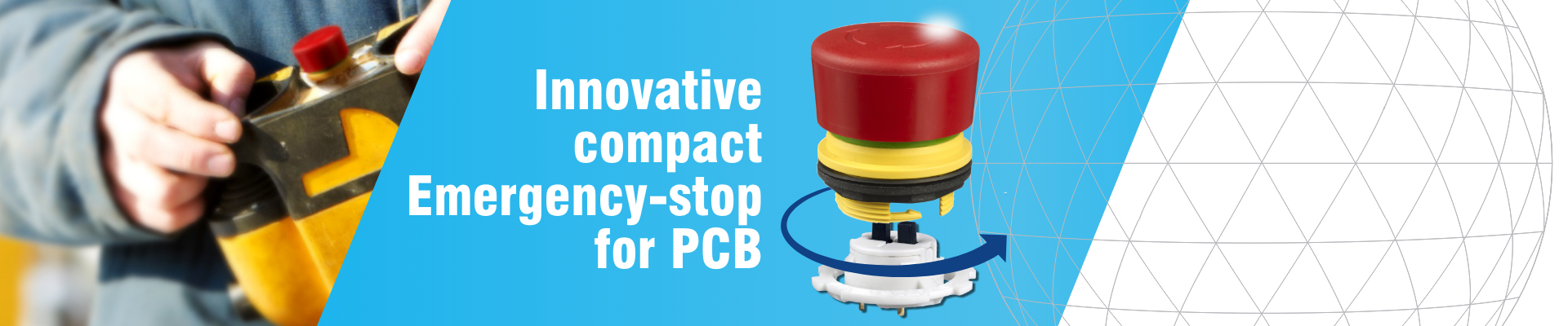 Innovative compact emergency-stop for PCB